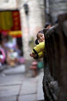 Kids in China were very curious and playful!