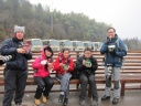 Our quick snack in the cold mountain!