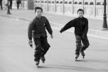 Rollerblading kids!