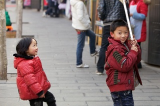 Lovely big smiles from these two as soon as they saw me photographing them. Only in China you can photograph kids without being warned or arrested!