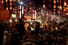 Night market. A beautiful place with all the lanterns.