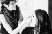 Sam was the MUA on the day. She'd done a brilliant job! Kodak Tri-X, Leica 90mm Summicron