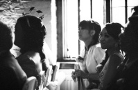 All the guests were enjoying the magical moment. Kodak Tri-X, Leica 90mm Summicron