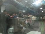 Hot food at the platform.