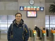 Waiting at Luoyang Station.
