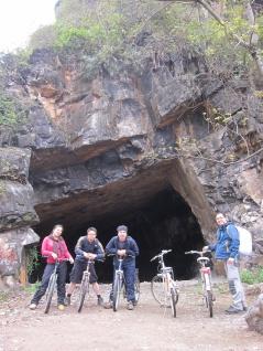 A big cave...