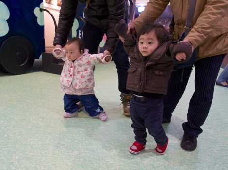 Double As learning to walk!