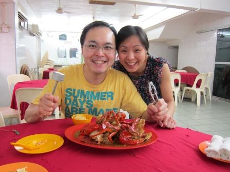 Our couple of hours 'off' from the kids and had one of the best crabs in KL!