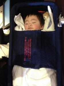 Ashton's infant cot.