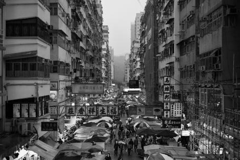 Familiar sight in Mong Kok, Hong Kong.