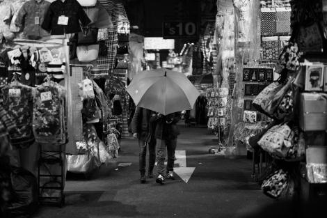 Couple in night market.