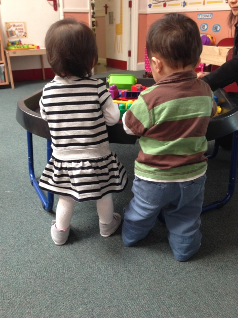 They first session at the nursery!