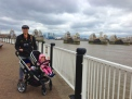 Thames Barrier, we had four seasons in a day!