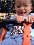 Ashton loves swings!