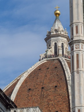 Looking up to the St. Maria Cathedral's dome made my heart pumped harder!