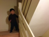 I don't understand sometimes why kids just love playing at the stairs...