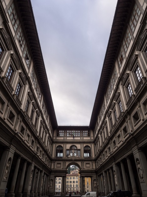 The famous Uffizi Gallery