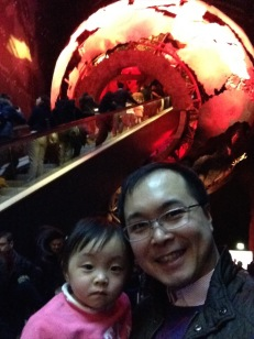 Another one with Daddy at the National History Museum