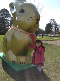 Giant bunny for Easter display