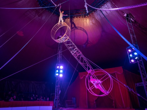 Some acts were very exciting and rather dangerous (especially when without safety net!)