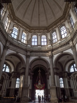 The octagonal central dome.