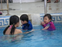 Having fun in the pool!