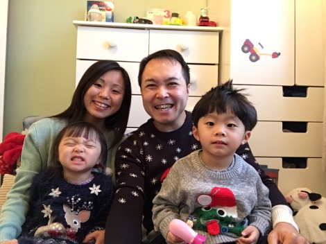 Christmas day, we had another family selfie in our Christmas jumpers!