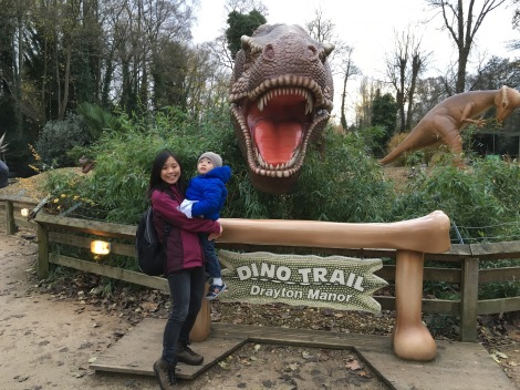 ... and dino park again with the little man.