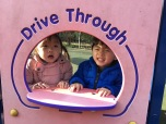 Drive through?? haha.. playing in another local park.