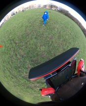 My fisheye camera from the drone :D