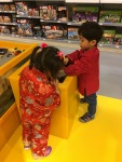 Playing at Lego store