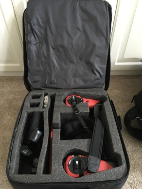 Bottom half holds the Sky Controller and accessories