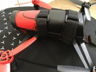 The straps are fully adjustable and can loop around different positions.