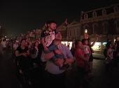 The night firework was definitely something that excited Ashton!