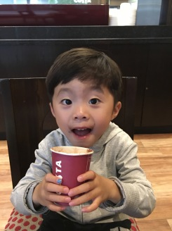 Enjoying Babycino :)