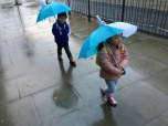 Back to school and it was raining.