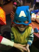 Ashton became Captain America!