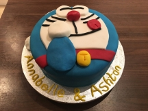 Susan made this cake for Ashton and Annabelle's birthday.