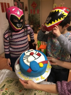 Ashton and Annabelle love watching Power Ranger and I bought them outfits.