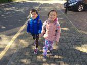 Morning school walk