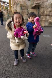 Daddy bought them their favourite dinosaurs!